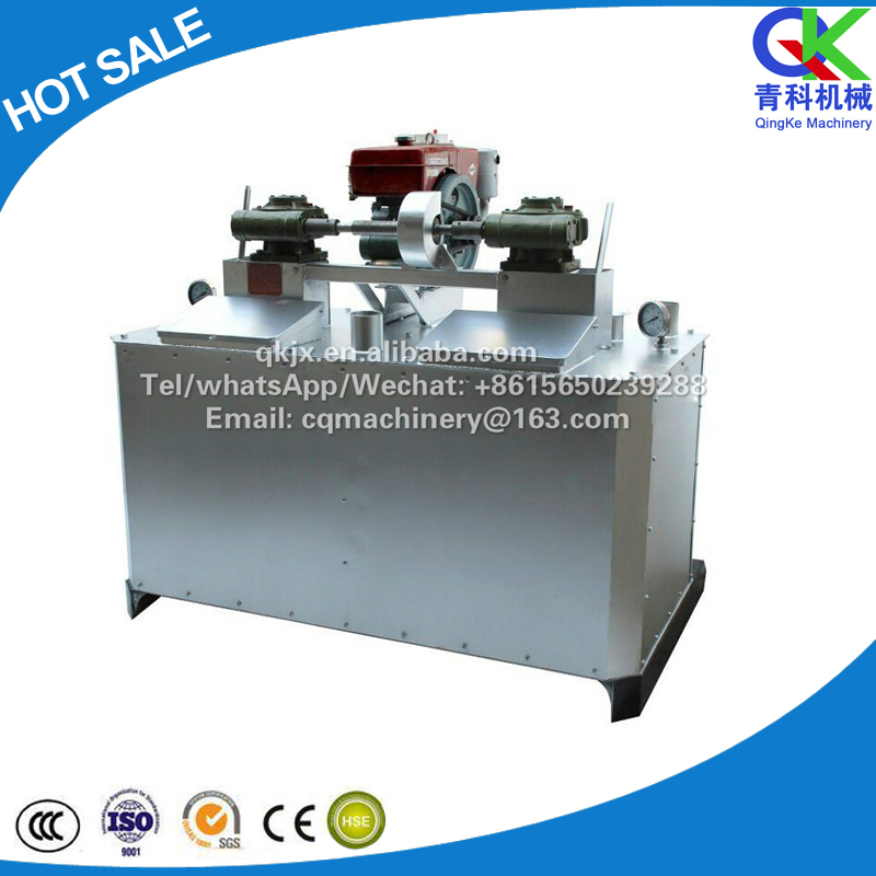 Double Cylinder Mechanical Fueled Oil Hot Melt Kettle price,430kg*2 thermoplastic paint preheater