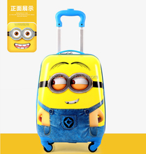 Portable waterproof cartoon characters printed hard shell travel abs luggage