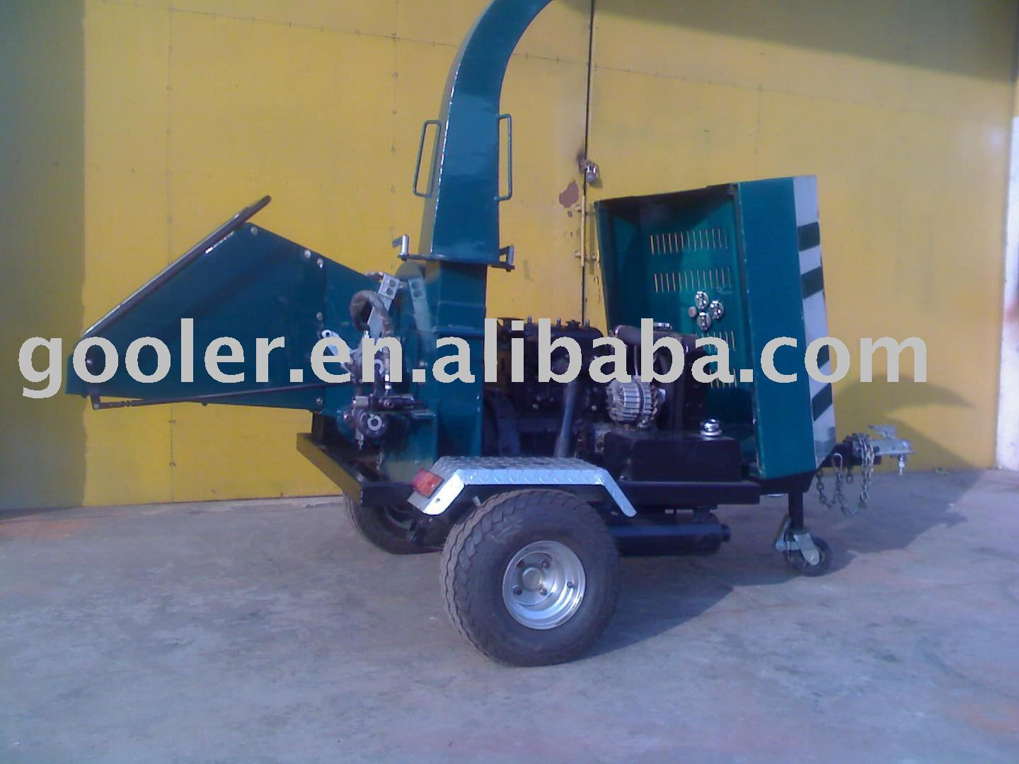 Diesel wood chipper/shredder, industrial wood chipper WC-40A