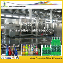 pet or glass bottle gas/aerated drink carbonated drink filling machine/bottling line