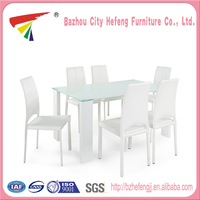 New product Modern Glass white extendable dining tables