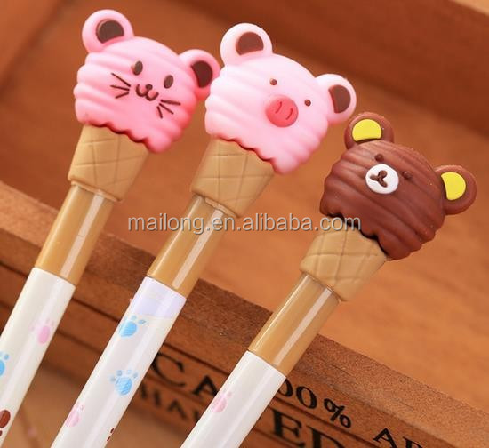 South Korea stationery students creative cute cartoon neutral pen cat neutral pen pen and black pen PN3379