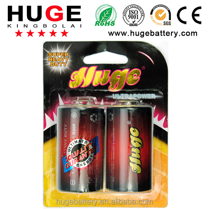 1.5V R20 UM-1 D size Carbon zinc dry cell battery