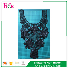 Fashion cheap custom latest mesh garment cotton neck collar lace