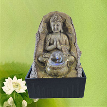Resin waterfall Buddha fountain for indoor tabletop decor