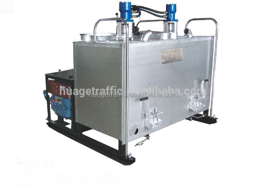 Hydraulic single-cylinder thermoplastic road marking paint Preheater with single kettle