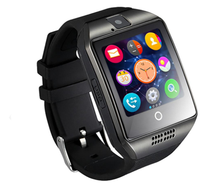 2016 Smart Watch Q18 Bluetooth Wearable Curved Screen Touch Smartwatch High Quality Support For Android and IOS Phone Wristwatch