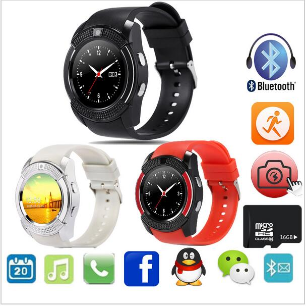 Round shape smart watch v8 / ladies smartwatch/v8 smartwatch android