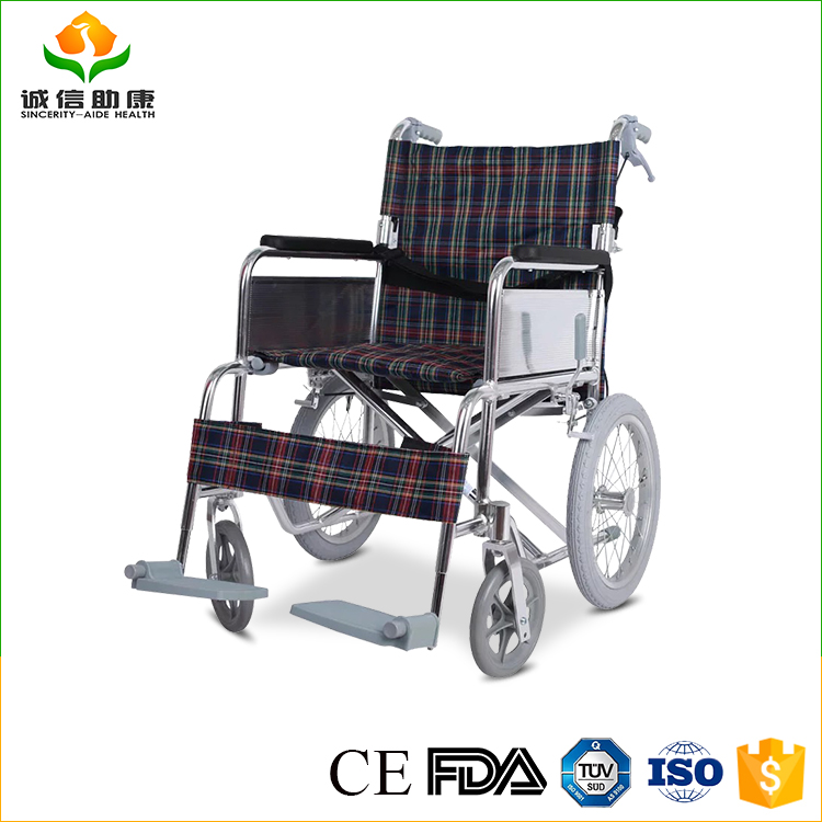 GOOD QUALITY High strength aluminum price of wheelchair lift philippines wheelchair manual With both loop brake and hand brake