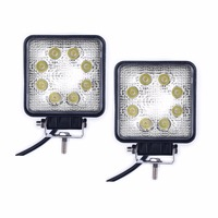 Off Road 5'' 1390LM 24W Square LED Work Light Lamp, Waterproof ATV Hid Offroad Lights/