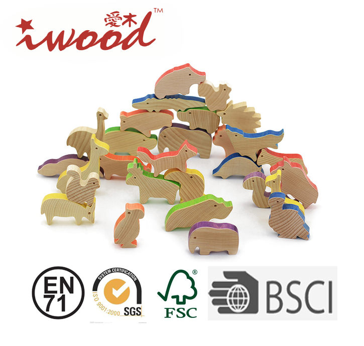 Beech wood Theme Blocks Educational wooden blocks