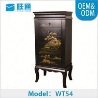 2015 newest Natural Color Wooden Customized nc finish mdf furniture mirror jewelry cabinet armoire