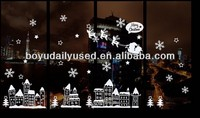 Christmas Stickers Free For Windows Decor Snowflake Removable Hot 23.5X31CM