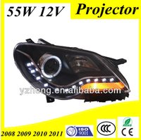 CCC CE E-Mark Car Styling 2008-2011 BORA ANGEL EYE HEADLAMP HEADLIGHT WITH LED AND BI-XENON PROJECTOR , FOR VOLKSWAG