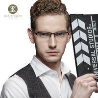 new arrival high quality fashion personality gafas Titanium men glasses frame