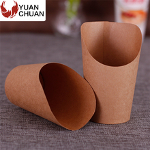 Cone design snack food french fries paper cups