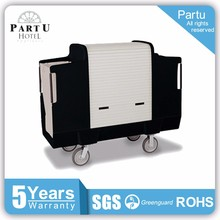 Partu Low Profle Handles Aluminum Hotel Housekeeping Maid Cart Trolley