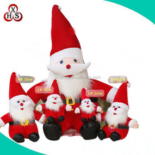 OEM./ODM custom soft plush santa claus with pp stuffed wholesale