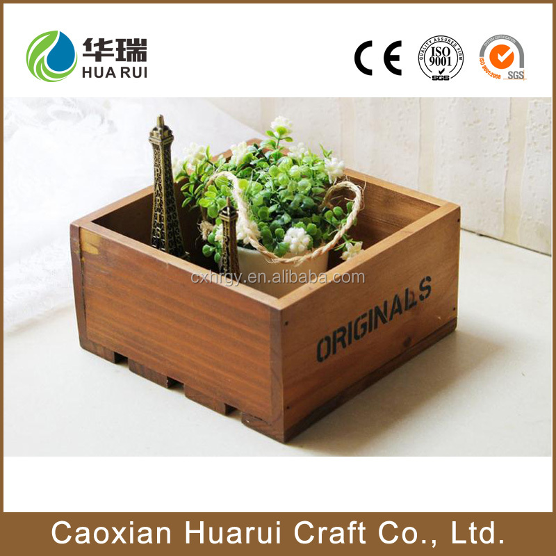 Custom wooden flower pot stand for wholesale