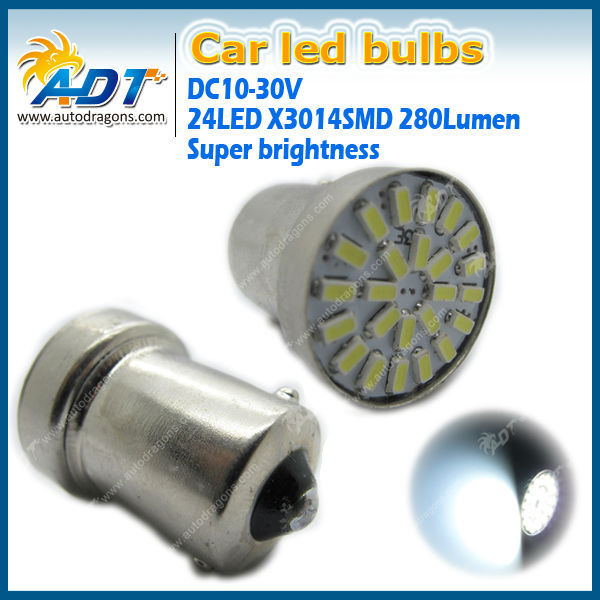 wholesale cheap ce car accessories DC 12V 24 LED 3014 280Lumen 1156 1157 3156 3157 7440 super bright turn light for bmw for audi