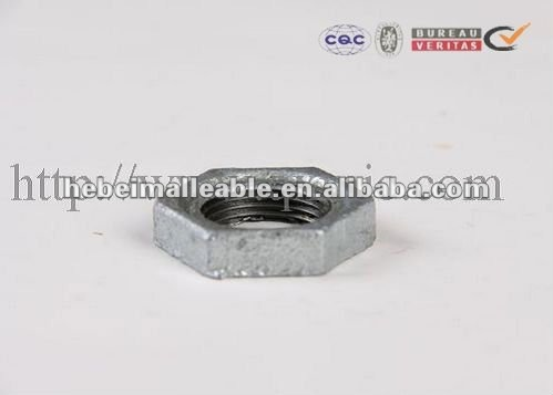malleable cast iron back nut galvanized