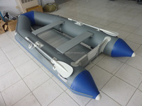 Blue and grey fishing boat Inflatable motor speed belly boat ASM-320 for sale!!!