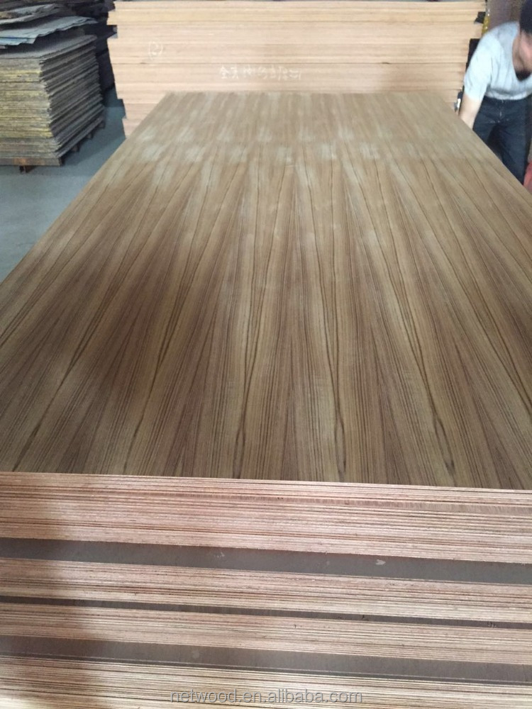 4*8 natural Bruma teak faced fancyplywood,natural teak faced lamitater board