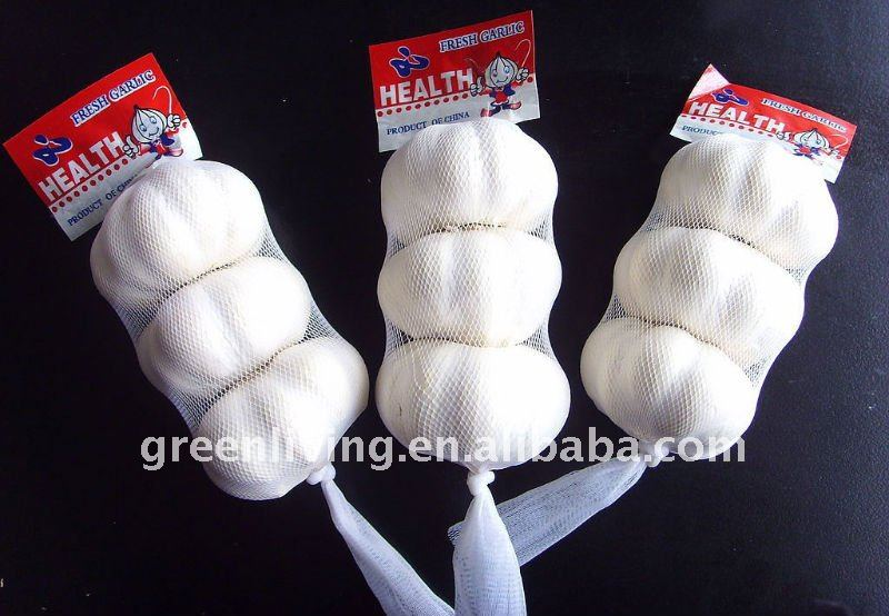 2012 newest china garlic price (3p) ,mesh bag