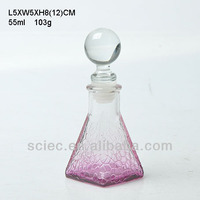 colored glass perfume bottle for personal care