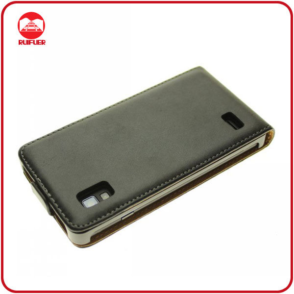 Funky 100% Genuine Real Leather Flip Cell Phone Case Cover for LG Optimus L9 P760