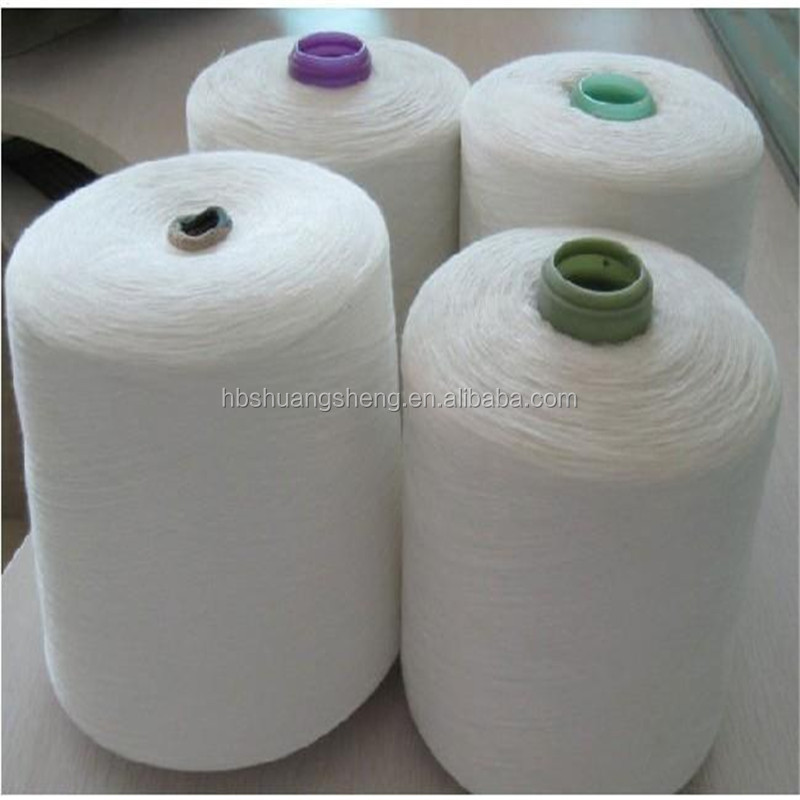 Virgin ring spun 100% spun polyester yarn 30/1
