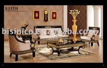 NEW ITEM-Luxury classical black& gold colour Living room sofa set,solid wood, hand carved,MOQ:1SET(B6052)