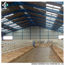 Prefabricated Prefab Cattle Cow Goat Dairy farming Shed Design