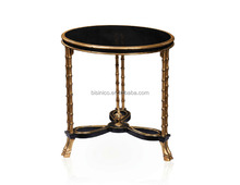Bisini Luxury 3 Feet Small Coffee Table in Gold, Small Golden Side Table, Living Room Small Round Table