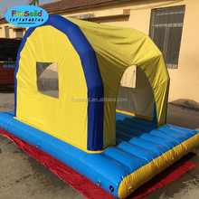 Rental business adults sand beach water toys inflatable floating tent