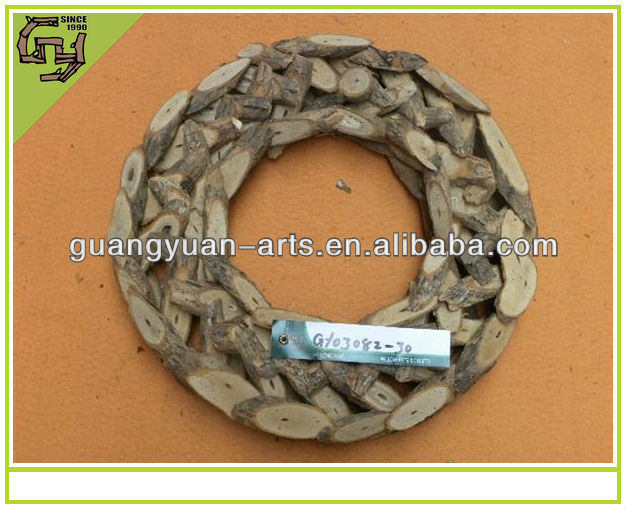 Christmas wreath star shaped natural rattan garland