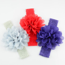 New Design 18 Colors Charming Girls Bloom Flower Hair Accessories, Gorgeous Floral Fairy Baby Headband A332