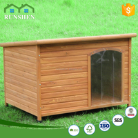 Adjustable Feet Wooden Dog Kennel With Open Roof