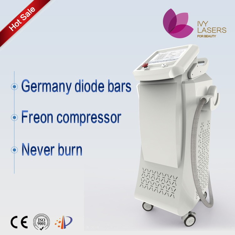 Professional Alexandrite laser hair removal machine 808nm / 755nm/ 1064nm diode laser for beauty salon and agents