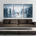 Modern Abstract Street Oil Painting Hotel Wall Art Home Decoration