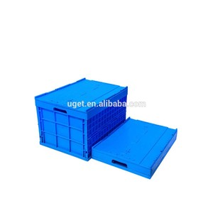 OEM&ODM quality stackable euro plastic foldable logistic divide crate