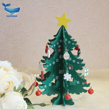 New wooden Christmas tree ornaments Retro wood crafts