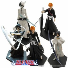 Japanese Anime Bleach action figure PVC dolls 12cm Set of 5pcs action figure toys gift box packing