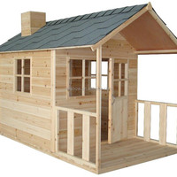 Cubby Plan Children Wood Cubby House