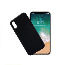 Popular cell phone accessories case soft silicone phone case with rubber coating for iphone 8