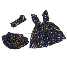 Wholesale adorable baby sparkle swing outfits fancy new born infant and toddler clothes for kids girl