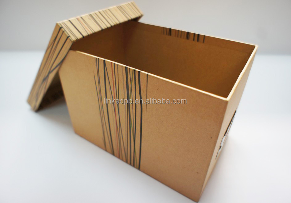 High quality Hot Sale Kraft Storage Box - Wooden Color Paper Box