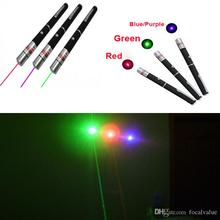 Powerful 5mW 532nm 650nm 405nm 455nm Green Blue Purple Red Light Lights Beam Laser Pointer Pen Pens Pointers Lasers free DHL