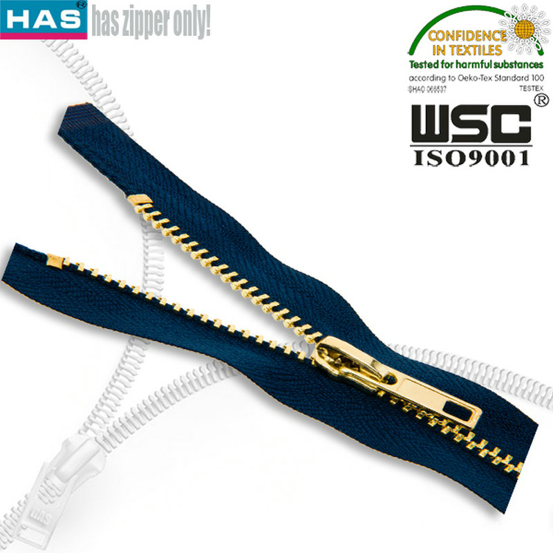 Creative Design Golden teeth Y teeth metal zipper