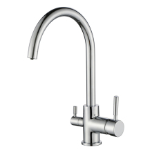 German Caravan CE Two Handle Long Neck Water Filter Kitchen Mixer Tap UK